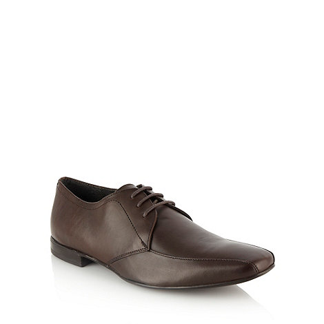Red Herring - Brown curved panelled square toed shoes