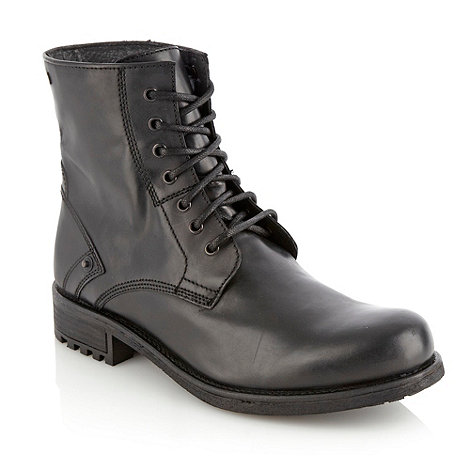 Red Herring - Black essential leather boots
