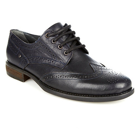 Red Herring - Navy leather studded brogues