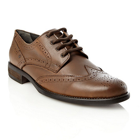 Red Herring - Tan leather brogue shoes