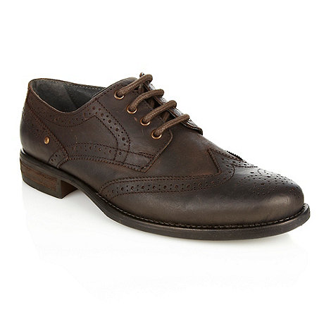 Red Herring - Brown leather studded brogues