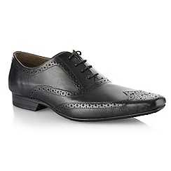 Red Herring - Black pointed leather brogues