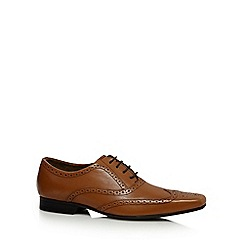 Red Herring - Tan pointed leather brogues