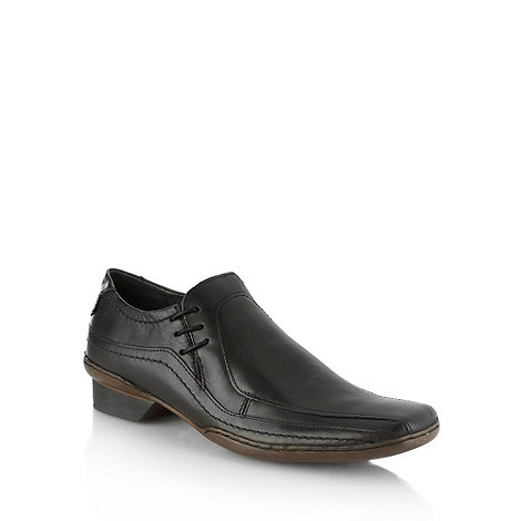 Red Herring - Black leather side lace up shoes