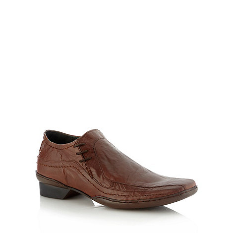 Red Herring - Brown leather side lace up shoes