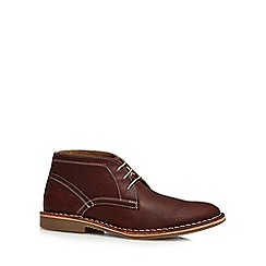 Red Herring - Brown leather desert boots
