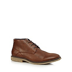 Red Herring - Tan 'Flare' chukka shoes