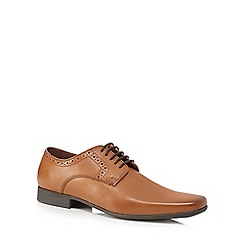 Jeff Banks - Tan leather 'Balmoral' Derby shoes