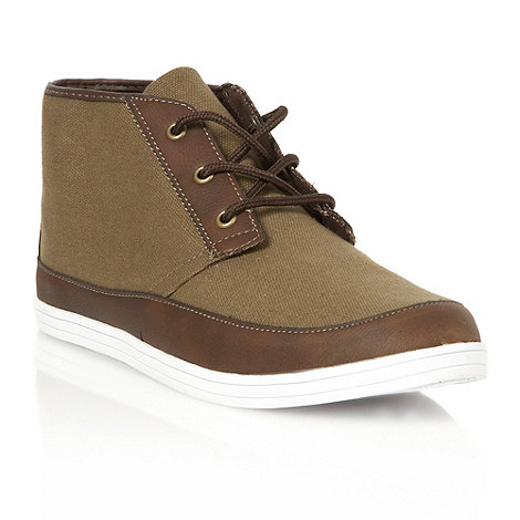 FFP - Green canvas chukka boots