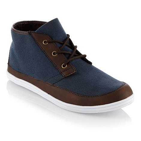 FFP - Blue canvas chukka boots