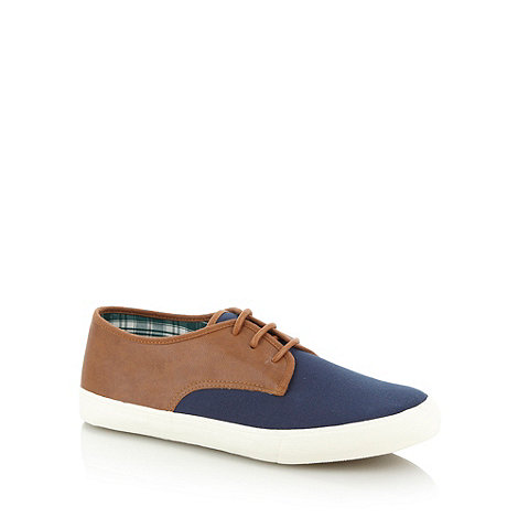 FFP - Navy canvas panelled trainers