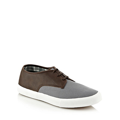 FFP - Grey panel plimsole trainers