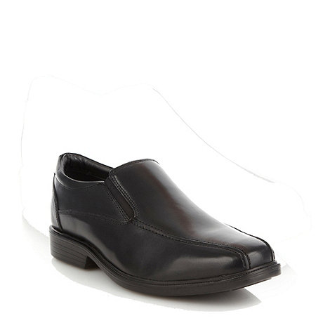 Airsoft - Black leather tramline shoes