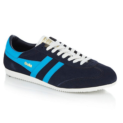 Gola - Navy +Javelin+ suede trainers