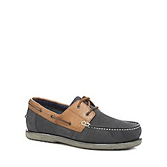 Maine New England - Navy leather boat shoes