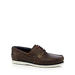 Maine New England - Brown leather boat shoes