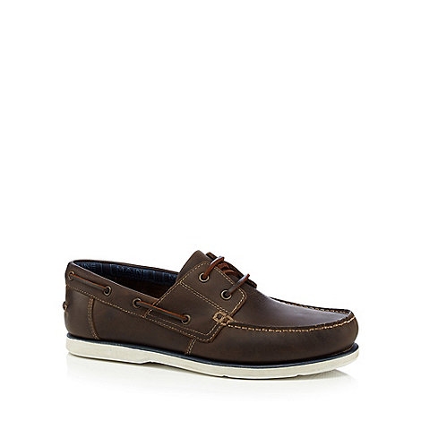 Maine New England - Brown laced boat shoes