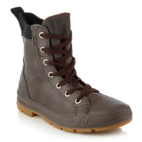 Converse - Converse Brown hi top trainer boots