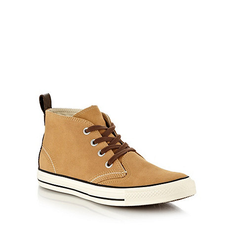 Converse - Tan +All Star Berkshire+ high top trainers