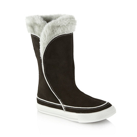 Converse - Converse girls+ grey suede snow boots