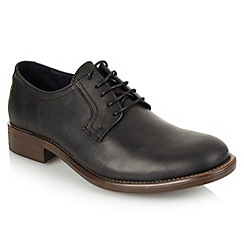 Base London - Black contrasting textured soled shoes