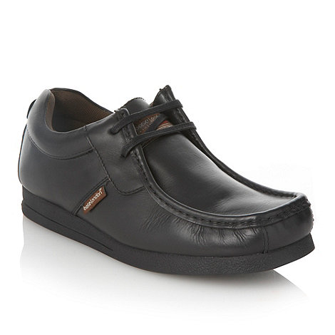 Base London - Black curved apron stitched shoes