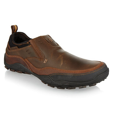 Skechers - Brown +Pebble Daley+ slip on shoes