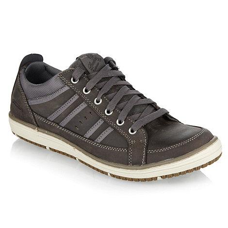 Skechers - Grey leather +Wezen+ trainers