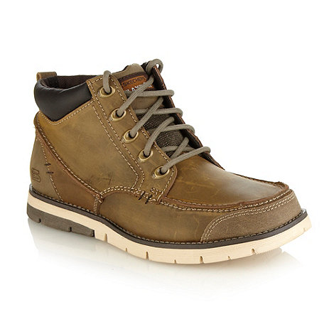Skechers - Brown panelled ankle boots