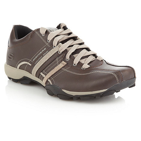 Skechers - Brown +Urban Tread+ leather trainers