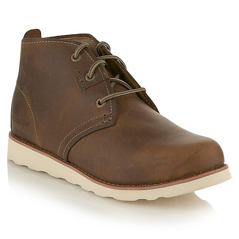 Caterpillar - Tan leather contrast sole chukka boots