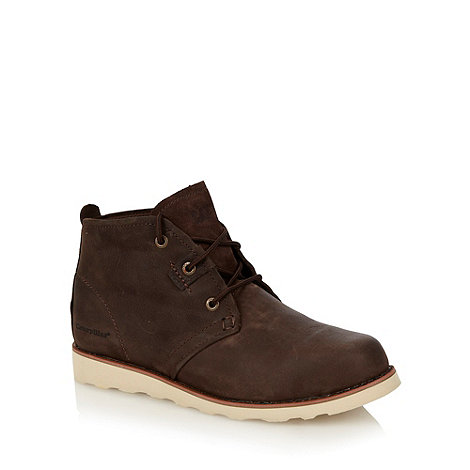 Caterpillar - Brown leather lace up ankle boots