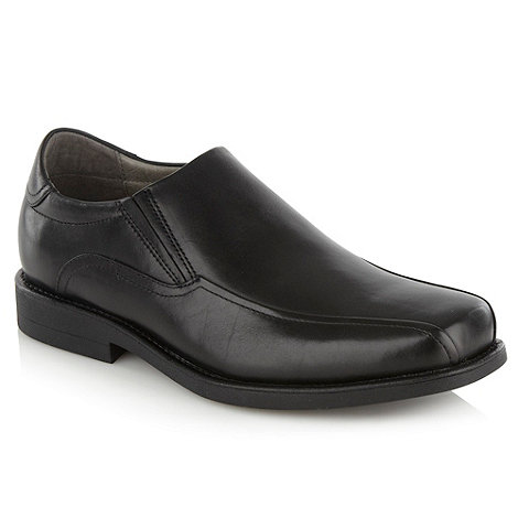 Steptronic - Black wavy seamed slip-on shoes