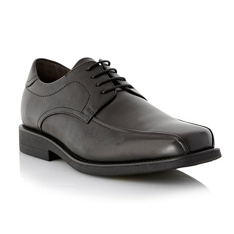Steptronic - Black leather tramline shoes