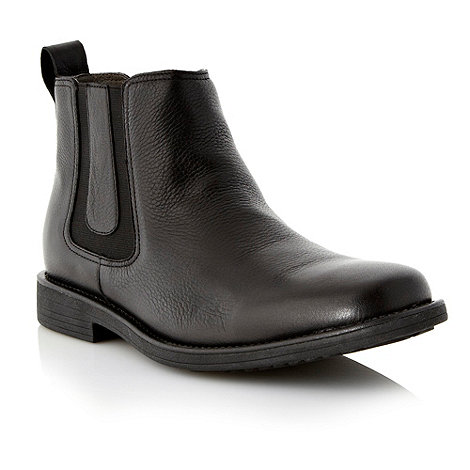 Steptronic - Wide fit black leather chelsea boots