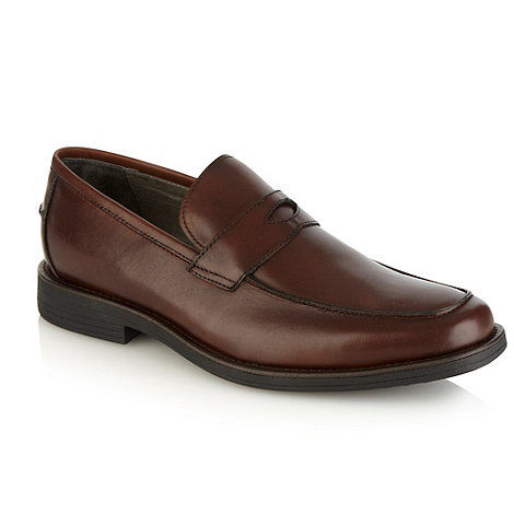 Steptronic - Brown cut out strapped slip-on shoes