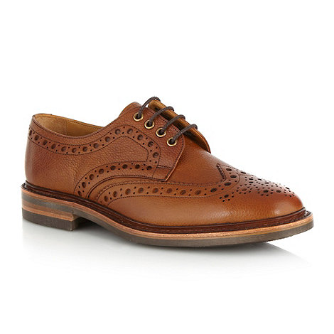 Loake - Tan grain leather brogues