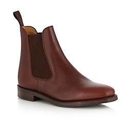 Loake Brown Suede Punched Hole Wing Toe Shoes