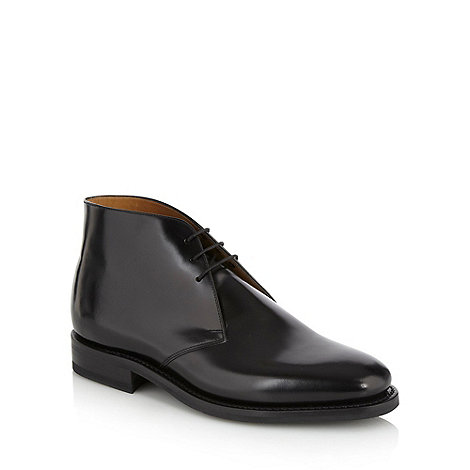 Loake - Black glazed ankle boots