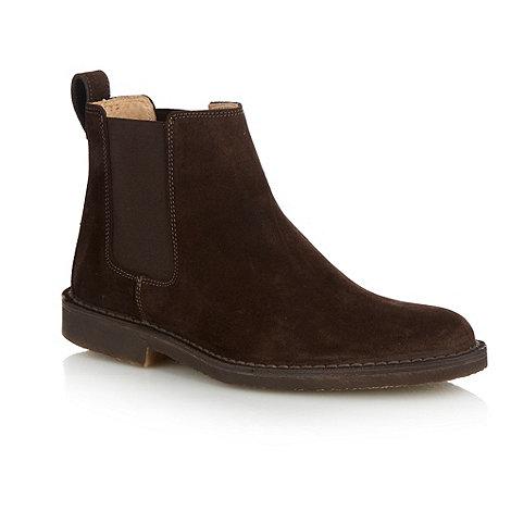Loake - Dark brown suede chelsea boots