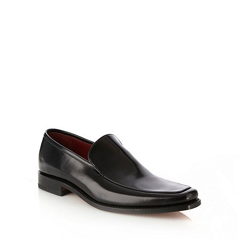 Loake - Black 'Scott' polished leather slip on shoes