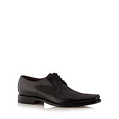 Loake - Big and tall black polished leather shoes