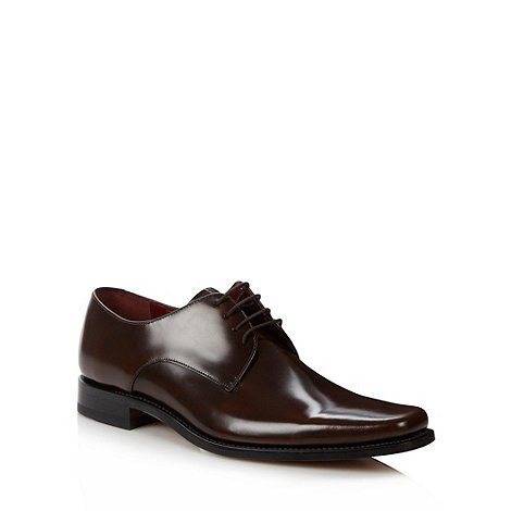 Loake - Dark brown +Ridley+ polished leather lace up shoes