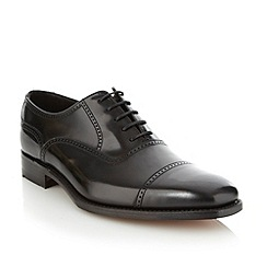 Loake - Black 'Grant' polished leather shoes