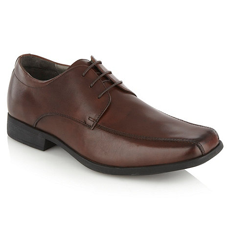 Steptronic - Brown square toed leather shoes