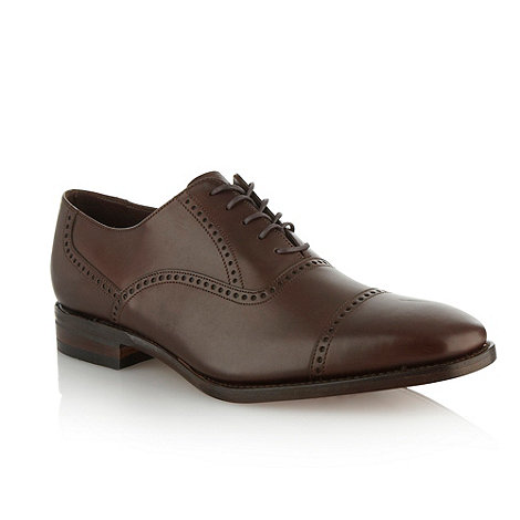 Loake - Brown +Hastings+ burnished leather shoes