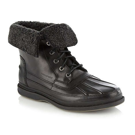 Rockport - Black rolled down cuffed boots