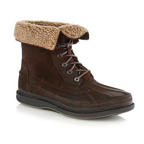 Rockport - Brown rolled down cuffed boots