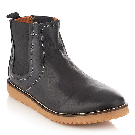 Frank Wright - Black contrasting stitched chelsea boots