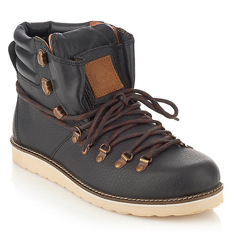 Frank Wright - Black leather walking boots